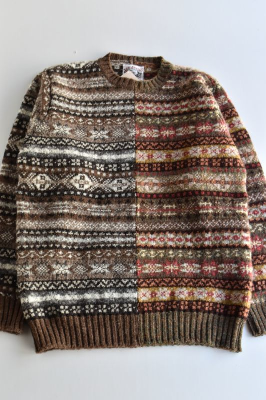 画像1: Jamieson's (ジャミーソンズ) Fairisle Crewneck Sweater -Exclusive- (1)