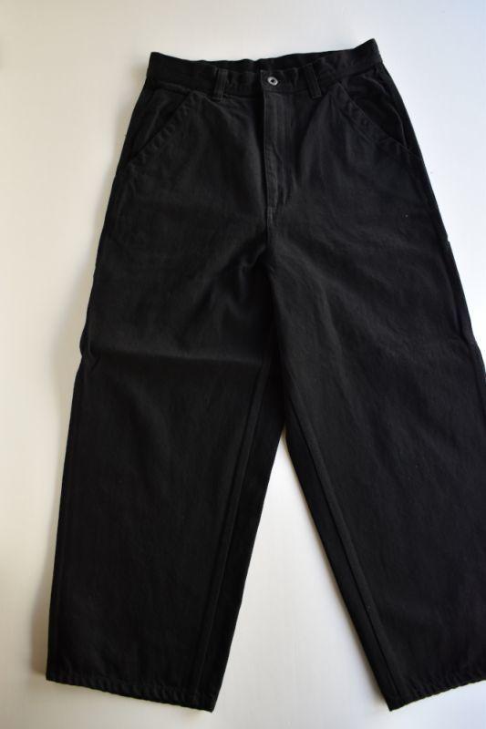 画像1: MASTER & Co. (マスターアンドコー) PAINTER PANTS  [BLACK DENIM] (1)