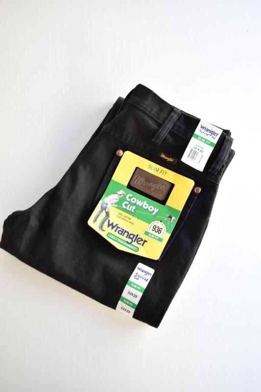 画像1: Wrangler (ラングラー) 936 Slim Fit Jeans  [BLACK] (1)