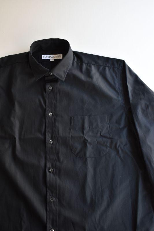 画像1: INDIVIDUALIZED SHIRTS (インディビジュアライズドシャツ) Over Sized Small Regular Collar Shirt-POPLIN-〔別注〕【BLACK】 (1)