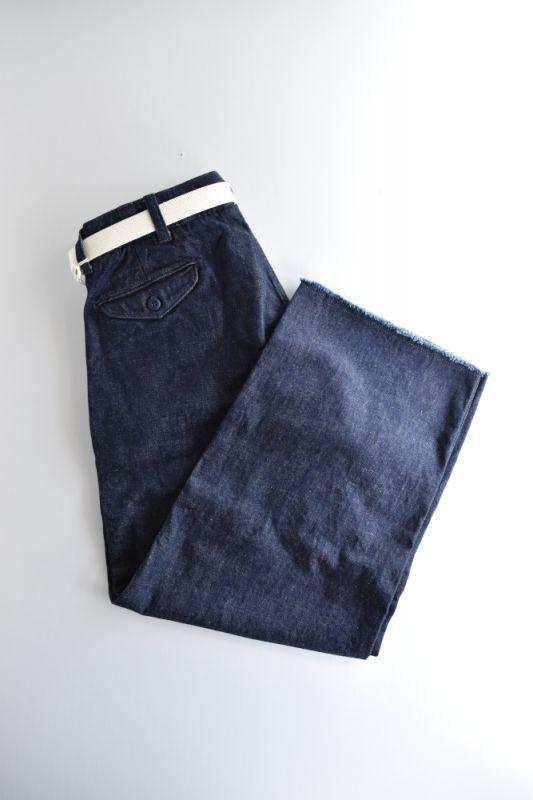 画像1: MASTER & Co. (マスターアンドコー) 10oz DENIM PANTS with BELT-CUT OFF- [INDIGO] (1)