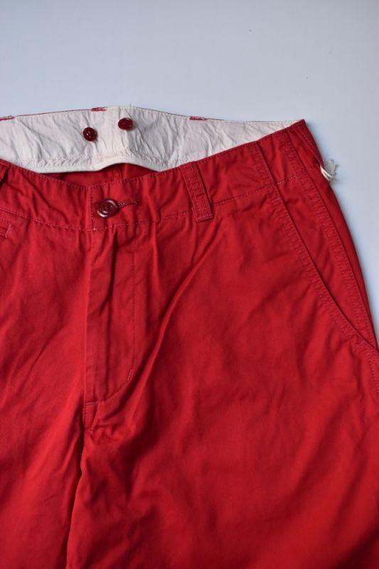 画像1: MASTER & Co. (マスターアンドコー) CHINO PANTS with BELT [RED] (1)