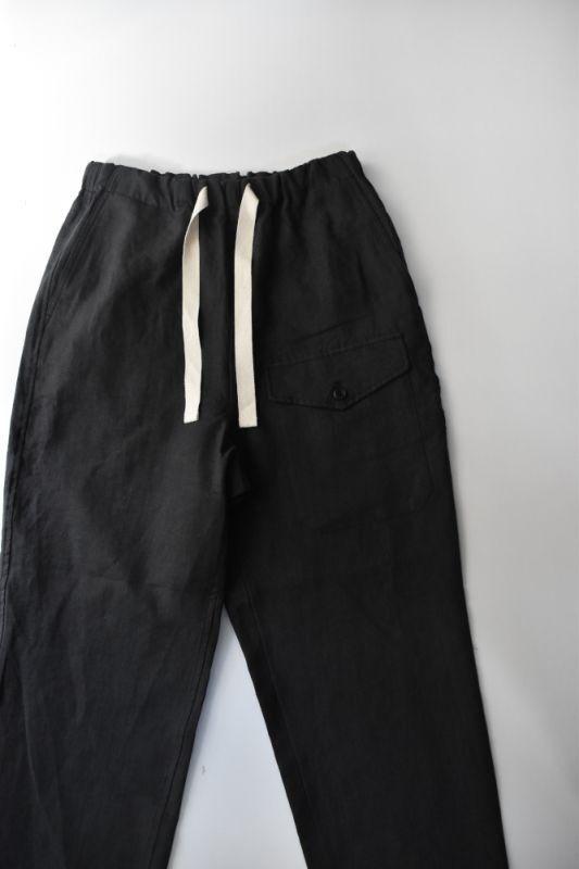画像1: *A VONTADE (アボンタージ) Linen British Mil. Easy Trousers [INK BLACK] (1)