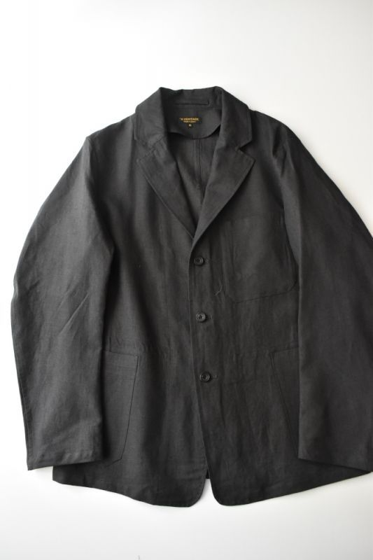 画像1: *A VONTADE (アボンタージ) Linen British Mil. Jacket [INK BLACK] (1)