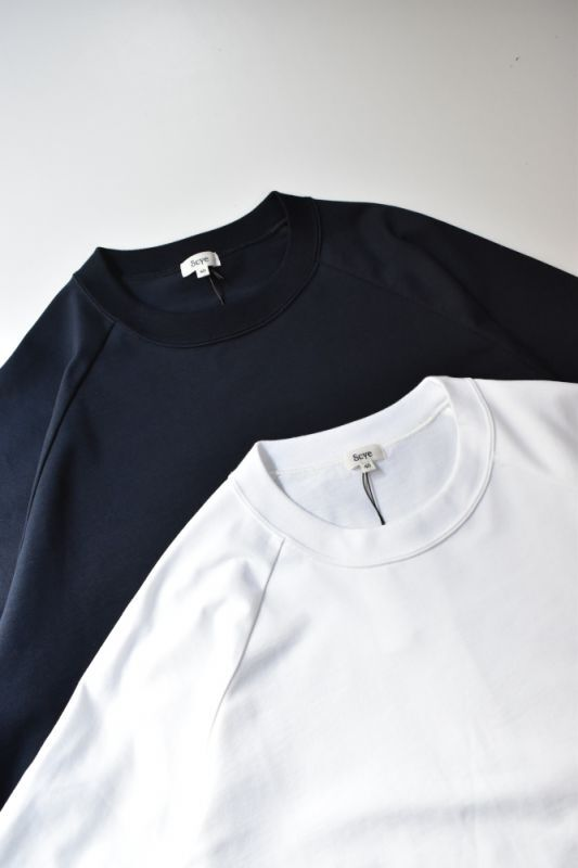 画像1: Scye (サイ) Organic Cotton Jersey Raglan T-Shirt [2-colors] (1)