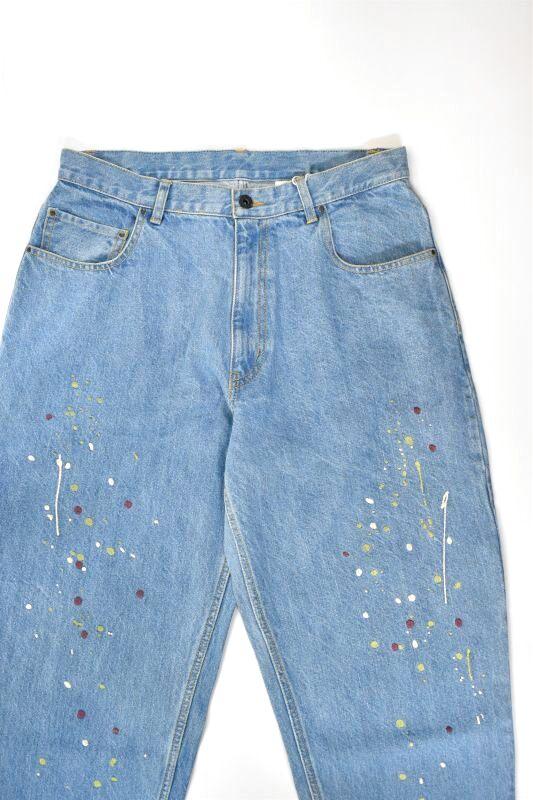 画像1: Niche. (ニッチ) Paint EMB Jeans [SAXE] (1)