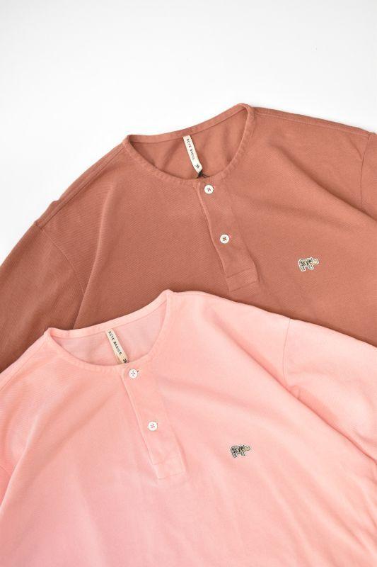 画像1: SCYE BASICS (サイベーシックス) Garment Dyed Cotton Pique Henley Neck Shirt [2-colors] (1)