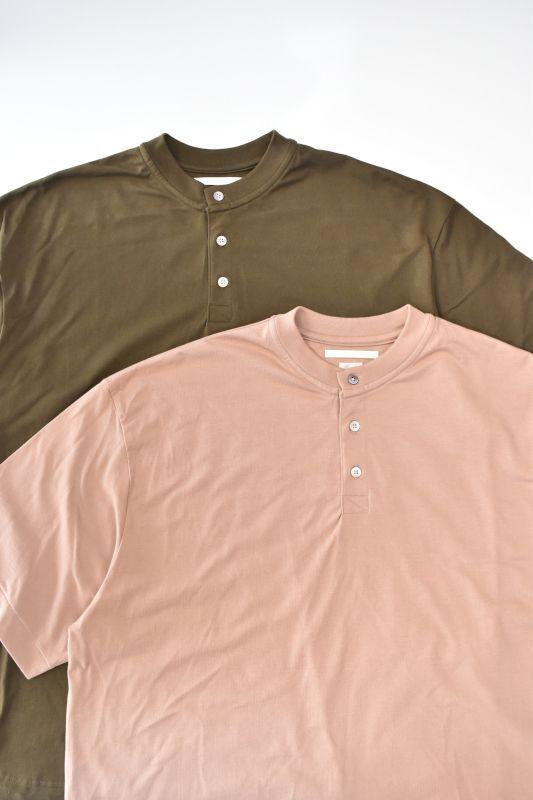 画像1: blurhms (ブラームス) Suvin Ripple Henley-neck [2-colors] (1)