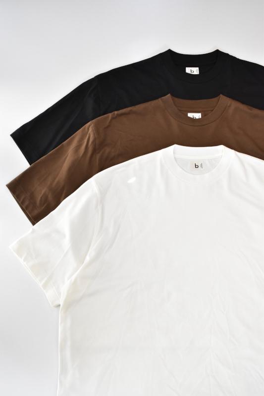 画像1: blurhms (ブラームス) Silk Cotton 20/80 Crew-neck BIG S/S [3-colors] (1)