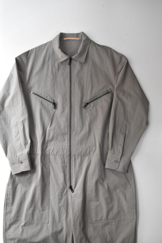 画像1: Scye (サイ) Cotton Weather Cloth Jumpsuits [OLIVE GREY] (1)
