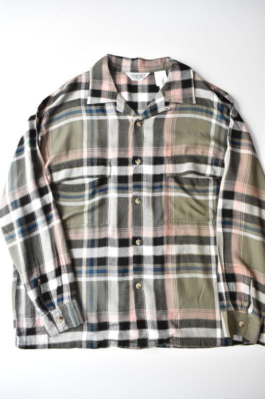 画像1: 【SALE】FIVE BROTHER+niche (ファイブブラザー+ニッチ) Rayon Square Shirts [GREEN CHECK] (1)