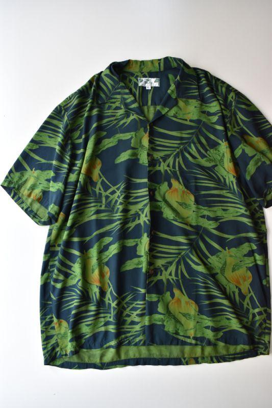 画像1: 【SALE】TWO PALMS (トゥーパームス) S/S Hawaiian Shirt [NAVY] (1)