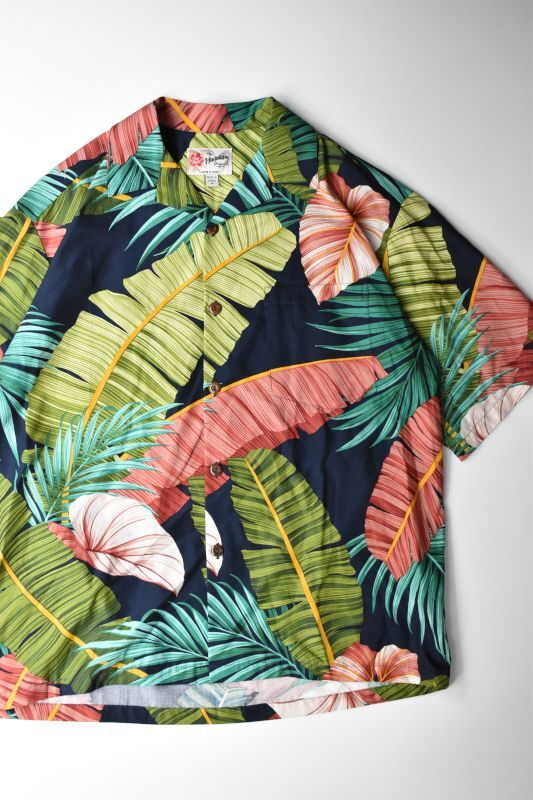画像1: 【SALE】HILO HATTIE (ヒロハッティ) Aloha Shirt -Tropical Leaf- [NAVY] (1)