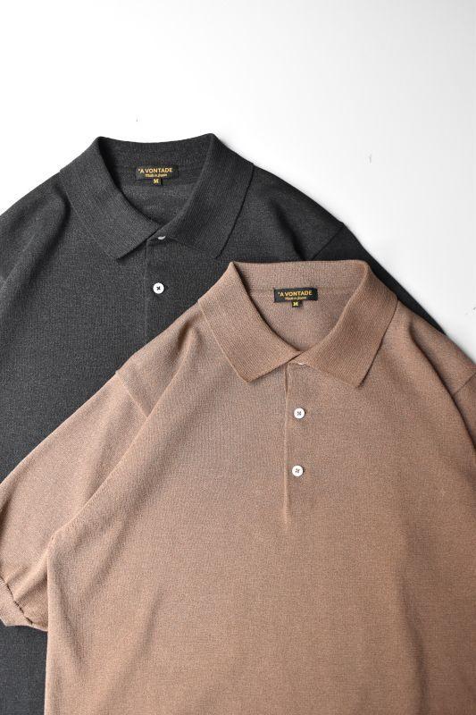 画像1: 【MORE SALE】*A VONTADE (アボンタージ)  Paper Knit Polo S/S  [2-colors] (1)