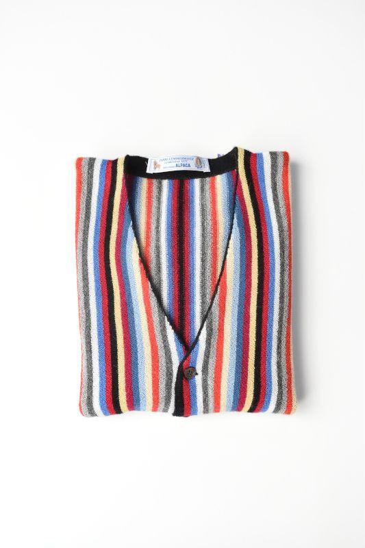 画像1: FANNI LEMMERMAYER(ファンニレマメイヤー) Multi Stripe V-neck Cardigan [MULTI] (1)