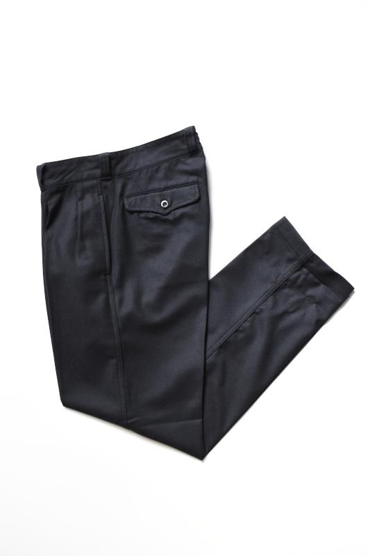 画像1: SCYE BASICS (サイベーシックス) Wool Cashmere Flannel French Army Trousers [DK.NAVY] (1)