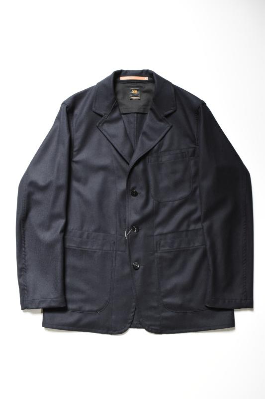 画像1: SCYE BASICS (サイベーシックス) Wool Cashmere Flannel Lounge Jacket [DK.NAVY] (1)