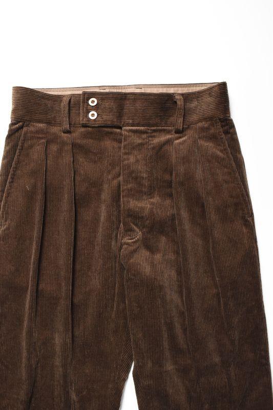 画像1: *A VONTADE (アボンタージ) British Officer Trousers -Corduroy- [DK.BROWN] (1)